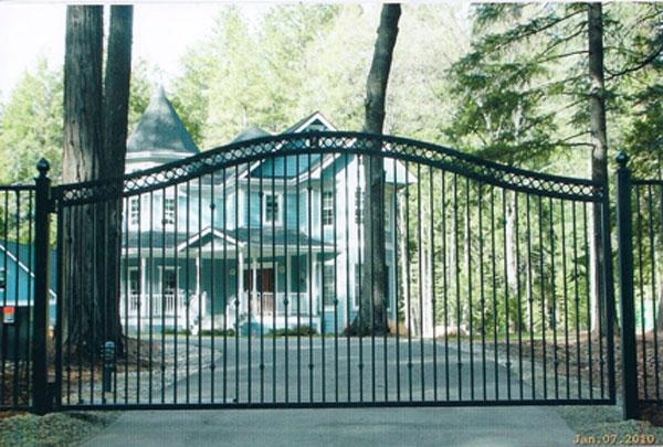 Iron gates folsom ca driveway courtyard