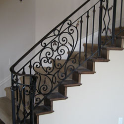 Interior Iron Railings - Folsom, CA